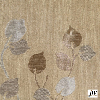 JW Design - Camille Dawn Uncoated 140cm  | Curtain Fabric - Brown, Fire Retardant, Contemporary, Floral, Garden, Pattern, Synthetic, Uncoated, Washable, Domestic Use