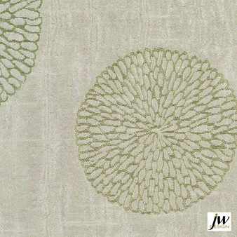 JW Design - Coco Spring Uncoated 140cm  | Curtain Fabric - Fire Retardant, Contemporary, Midcentury, Modern, Pattern, Synthetic, Transitional, Uncoated, Washable, Circles