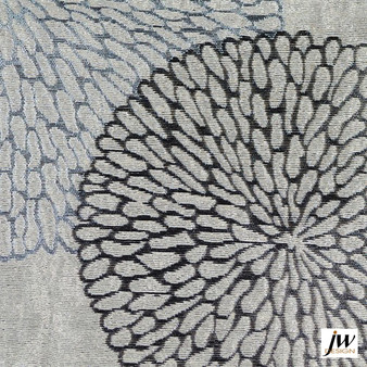 JW Design - Coco Platinum Uncoated 140cm  | Curtain Fabric - Fire Retardant, Grey, Contemporary, Midcentury, Modern, Pattern, Synthetic, Uncoated, Washable, Domestic Use