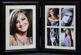 5x7 CLASS OF 2021 (or ANY YEAR) Double Hinged Portrait Frame with Cream Mats ~ A Wonderful Graduation Gift!