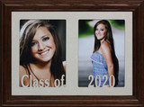 7x10 CLASS OF 2021 (or ANY YEAR You Need) ~ Holds two portrait 4x6 or cropped 5x7 photos - Graduate Gift! #830 Frame