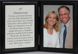 5x7 25th Anniversary Poem Double Hinged Picture/Photo Frame ~ A Wonderful 25th Anniversary Gift!