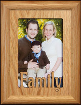5x7 FAMILY ~ Portrait  or Landscape OAK Mat Picture Frame ~ Holds a 4x6 or cropped 5x7 photo ~ Wonderful Family Keepsake Frame!