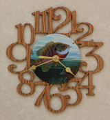 SUNFISH ~ SMALL Decorative OAK PHOTO WALL CLOCK ~ Great Gift for FISHING Enthusiasts!