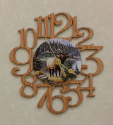 ELK ~ SMALL Decorative OAK PHOTO WALL CLOCK ~ Great Gift for an ELK Hunter/Enthusiast!