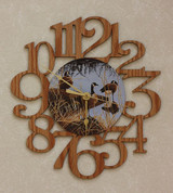 GEESE ~ MEDIUM Decorative OAK PHOTO WALL CLOCK ~ Great Gift Idea for a Hunter!