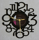 JOHNNY RIVERS ~ IN ACTION! ~ Wall Clock made from the Vinyl Record LP ~ Recycled LP Vinyl Record/Album Clock