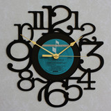 A FLOCK OF SEAGULLS ~ Wall Clock made from the Vinyl Record LP ~ Recycled LP Vinyl Record/Album Clock