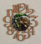 SLOTH EATING ~ SMALL Decorative OAK PHOTO WALL CLOCK ~ Great Gift for SLOTH Enthusiasts!