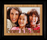 8x10 FOREVER IN MY HEART Landscape Photo Laser Name Frame ~ Oak Mat BLACK Frame