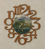 WALLEYES ~ MEDIUM Decorative OAK PHOTO WALL CLOCK ~ Great Gift Idea for a FISHERMAN!