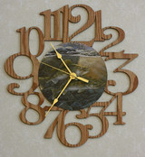 WALLEYES ~ LARGE Decorative OAK PHOTO WALL CLOCK ~ Great Gift Idea for a FISHERMAN!