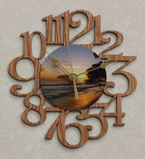MAUI SUNSET ~ SMALL Decorative OAK PHOTO WALL CLOCK ~ Great Gift for a DAYDREAMER!
