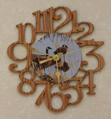 GEESE ~ SMALL Decorative OAK PHOTO WALL CLOCK ~ Great Gift for a Goose Enthusiasts!