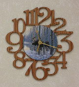 MOOSE IN THE WOODS ~ MEDIUM Decorative OAK PHOTO WALL CLOCK ~ Great Gift Idea for a MOOSE Enthusiast!!