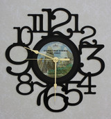 BACHMAN TURNER OVERDRIVE ~ Not Fragile ~ LP RECORD WALL CLOCK made from the Vinyl Record Album