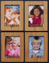 4 Individual PERSONALIZED Portrait PHOTO NAME MAGNETS