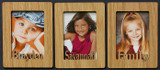 3 Individual PERSONALIZED Portrait PHOTO NAME MAGNETS