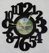 AMERICA ~ LP RECORD WALL CLOCK made from the Vinyl Record Album S-17