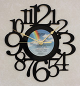 Miami Vice - Original Soundtrack LP RECORD WALL CLOCK made from the Vinyl Record Album S-14