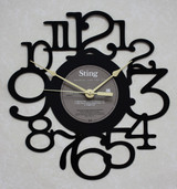 STING - Nothing Like The Sun Side 2 LP RECORD WALL CLOCK made from the Vinyl Record Album S-13