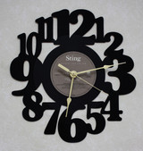 STING - Nothing Like The Sun Side 3 LP RECORD WALL CLOCK made from the Vinyl Record Album S-13