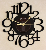QUEEN - Greatest Hits - LP RECORD WALL CLOCK made from the Vinyl Record Album S-12