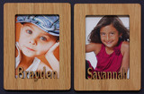 2 Individual PERSONALIZED Portrait PHOTO NAME MAGNETS