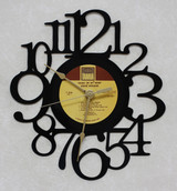 Stevie Wonder - Music Of My Mind - LP RECORD WALL CLOCK made from the Vinyl Record Album S-5