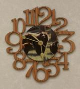 THREE BEARS ~ SMALL Decorative OAK PHOTO WALL CLOCK ~ Great Gift for Bear Enthusiasts!