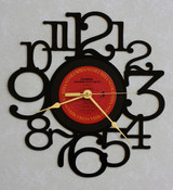 WARRIOR ~ SCANDAL ~ Wall Clock made from the Vinyl Record LP ~ Recycled LP Vinyl Record/Album Clock