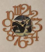 THREE BEARS ~ LARGE Decorative OAK PHOTO WALL CLOCK ~ Great Gift Idea for a BEAR Enthusiast!
