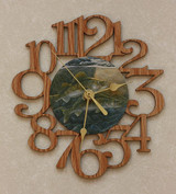 WALLEYES ~ SMALL Decorative OAK PHOTO WALL CLOCK ~ Great Gift for a Fishing Enthusiasts!