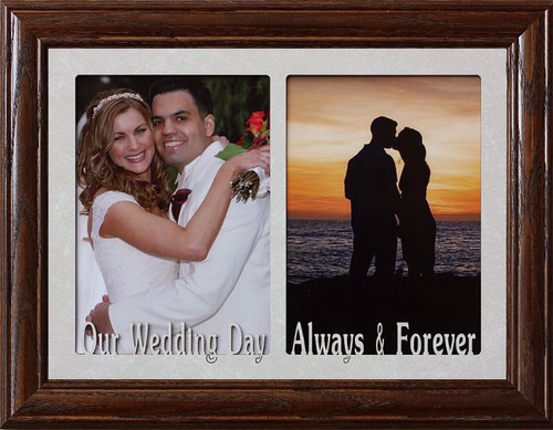 Our Wedding Day And Always Forever Double 5x7 Black Frame