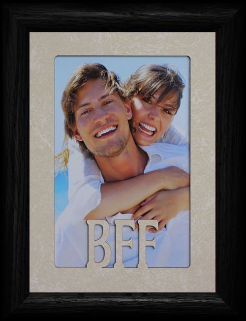 5x7 Bff Best Friends Forever Portrait Cream Mat Black Picture