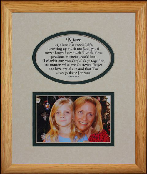8x10 Niece Picture Poetry Photo Gift Frame Creamburgundy Mat