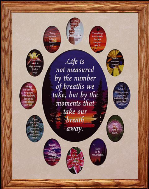 14x18 Oval School Daysyears Collage Mat Holds A 8x10 Photo