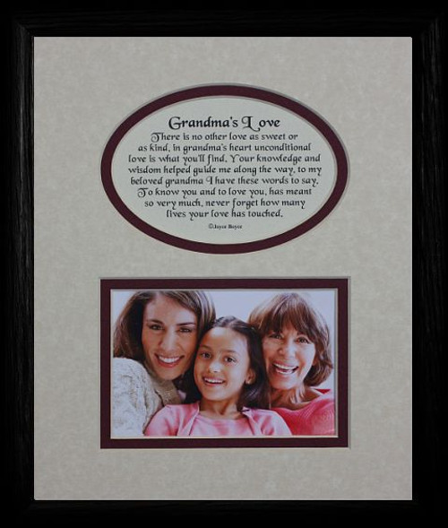Mat In BLACK Frame Heartfelt Keepsake Picture For Grandma From GrandkidsGrandchildren Gift Idea Grandparents Day Birthday Or Christmas