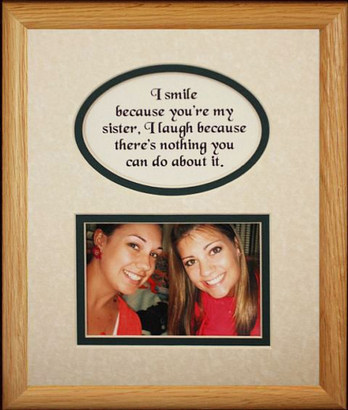 8x10 Sister Picture Poetry Photo Gift Frame Creamhunter Green