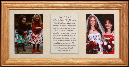 7x15 My Friend My Maid Of Honor Poetry Photo Black Frame Gift For