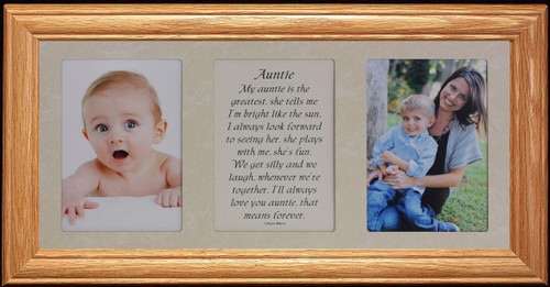 7x15 Niece Poetry Photo 2 Opening Wonderful Gift From An Aunt Or