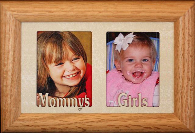 MOMMY'S GIRL Double Wallet Frame ~ Holds Two-2x3 Portrait