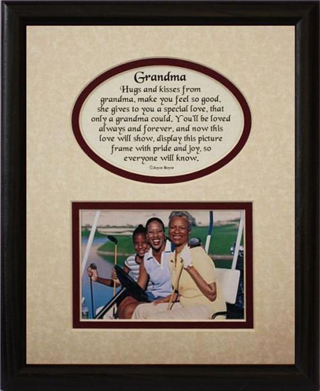 8x10 GRANDMA Picture Poetry Photo Gift Frame Heartfelt Keepsake For Grandma From Grandchild Or Grandkids Idea Grandparents Day
