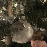 Christmas ornaments feather ball - A Piece of My Heart Is In Heaven Memorial Ornaments ( FREE SHIPPING)
