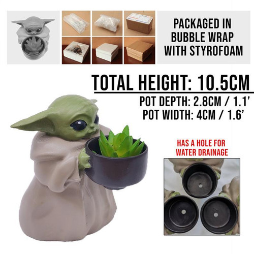 Baby Yoda Pot Planter Christmas Ornament (FREE SHIPPING)