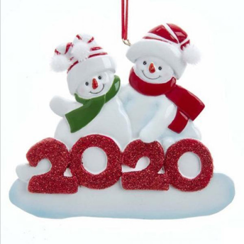 2020 Snowman Family of 2 Ornament 4.375""