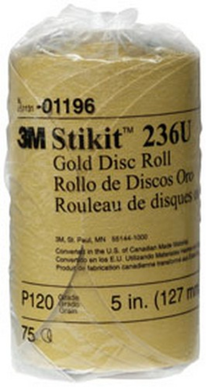 3M 01426 Stikit Gold 5 P120A Grit Disc Roll