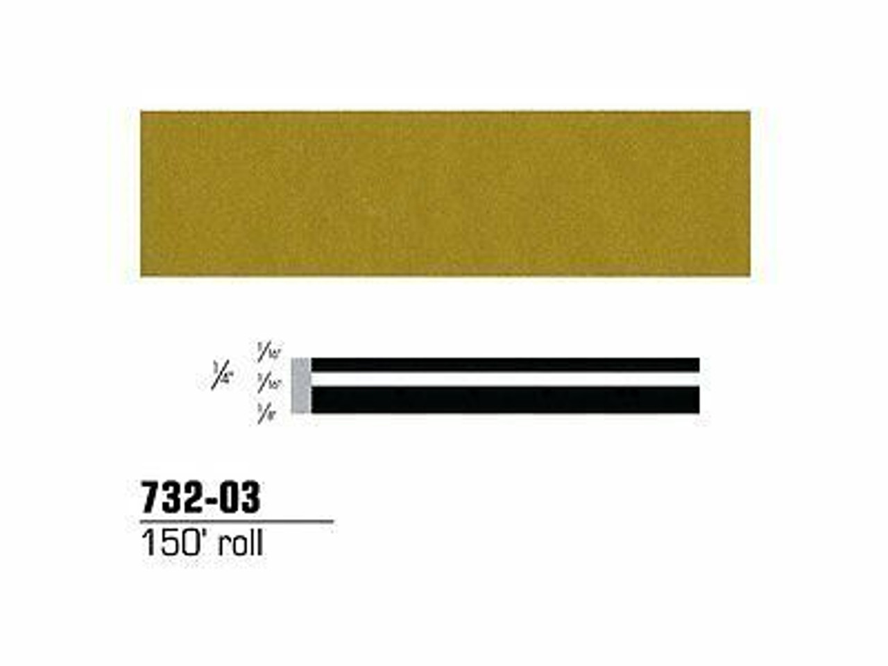 "1//4/"" X 150/' 3m 3MS-73285 Scotchcal Striping Tape Light Gold Metallic 73285"