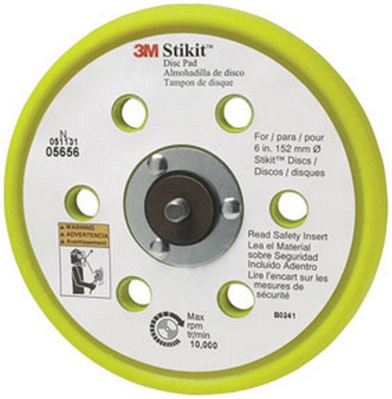 3M 05756 Hookit 6 Low Profile Disc Pad