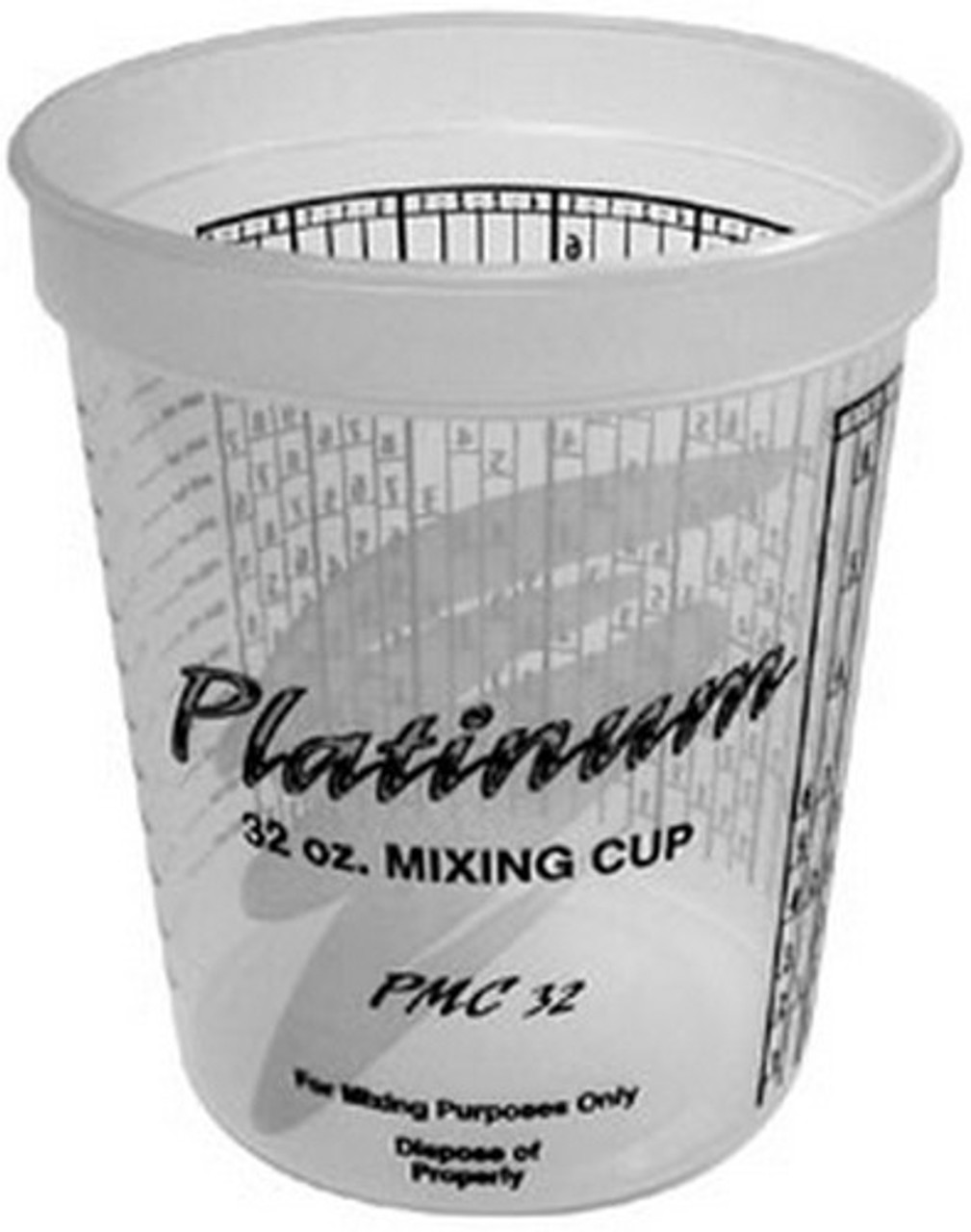 E-Z Mix PMC32 Platinum Mixing Cups with PPG Ratios, 1-Quart